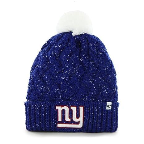 e73f70abe New York Giants 47 Brand Womens NFL Fiona Cuff Knit Beanie