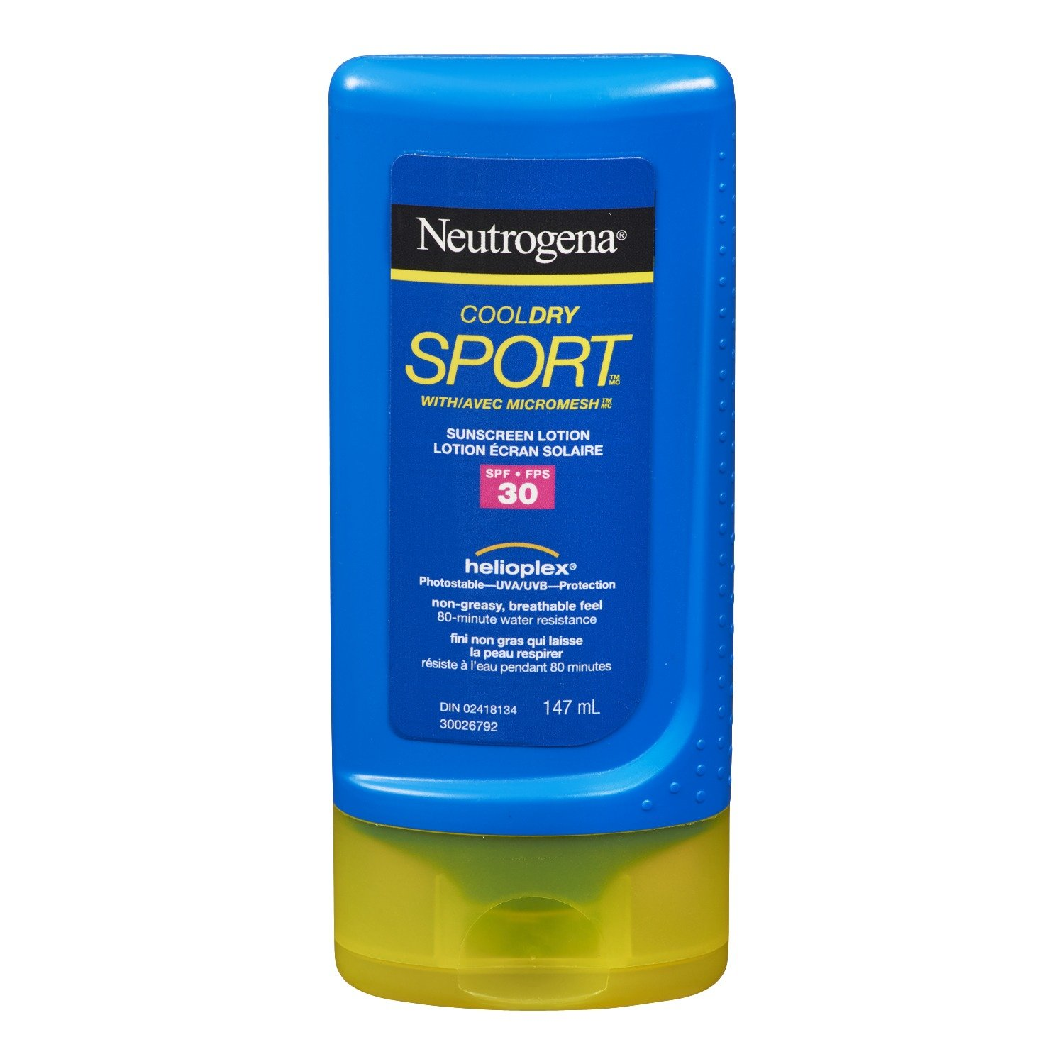 Neutrogena Sport Sunscreen Spray SPF 60, Cool Dry Sport Water Resistant Sun Protection, 155g Johnson and Johnson CA