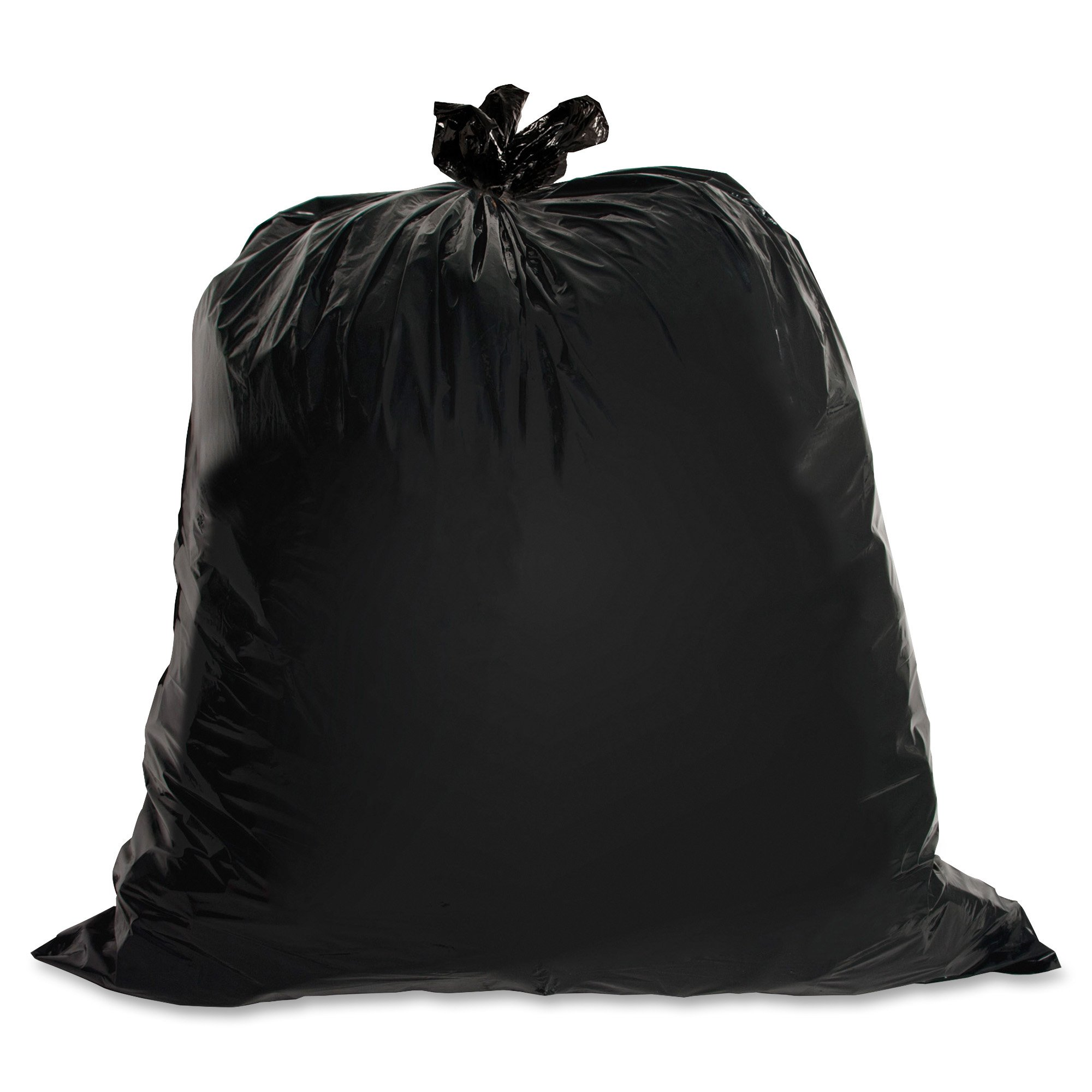 Genuine Joe GJO01534 Heavy Duty Low-Density Puncture Resistant Trash Bag, 45 gallon Capacity, 46'' Length x 39'' Width x 1.50 mil Thickness, Black (Box of 50)