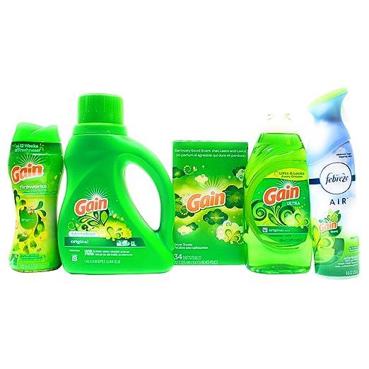 Gain Detergente de lavandería Deluxe Bundle con Detergente Líquido ...