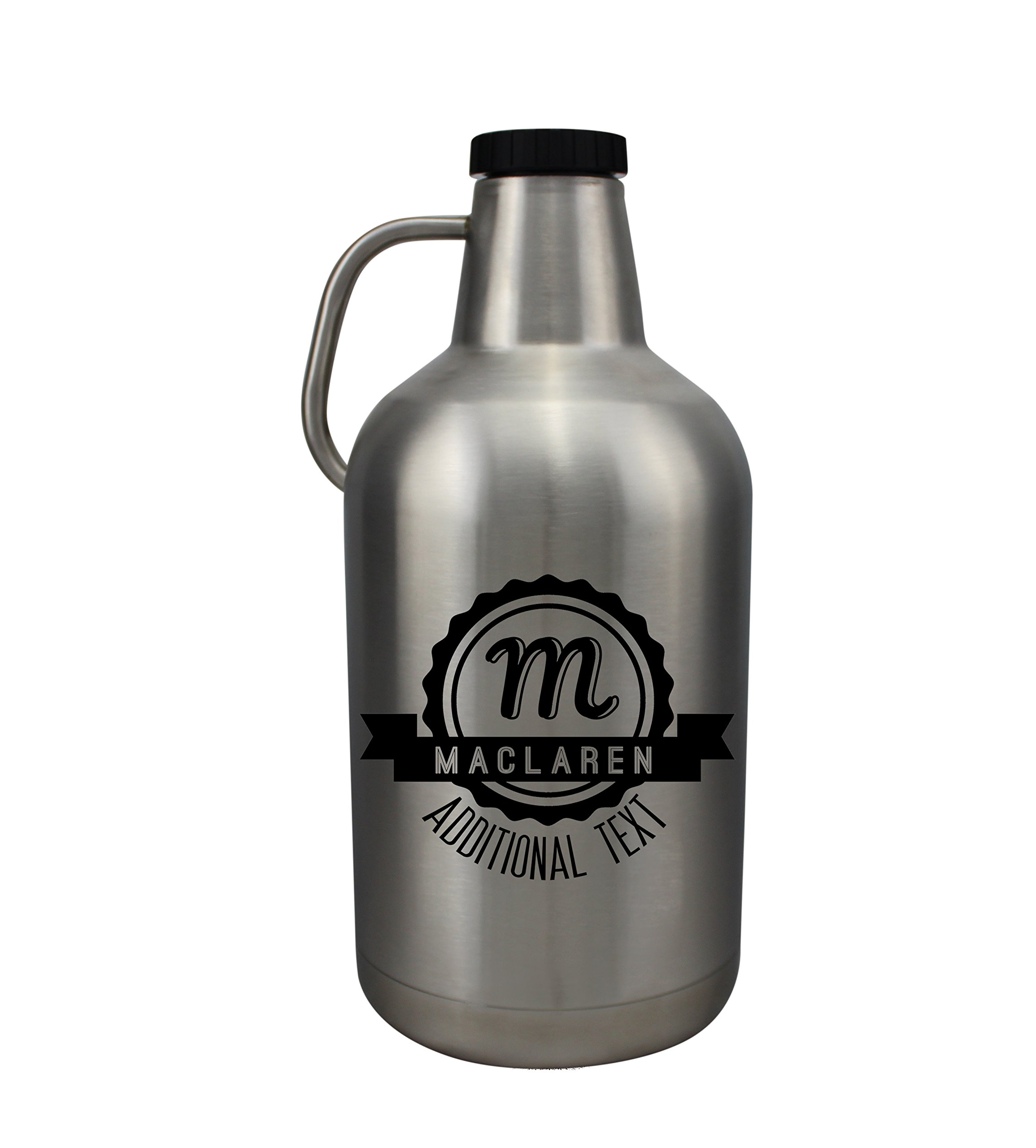 Personalized Etched 128oz Insulated Stainless Growler