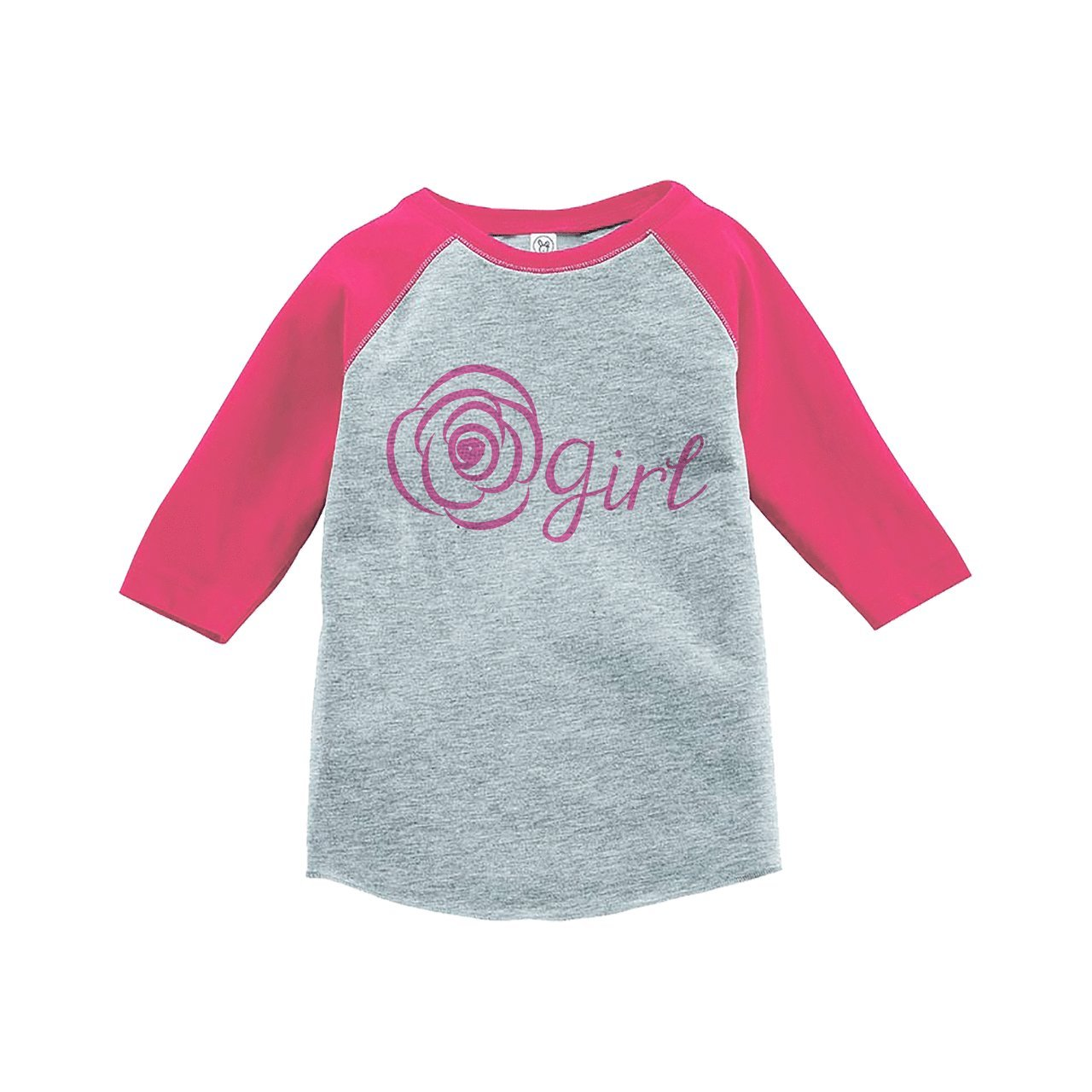 7 ate 9 Apparel Youth Girl's Flower Girl Wedding Pink Raglan MD by 7 ate 9 Apparel (Image #1)