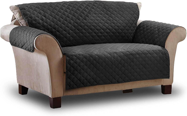 Resistente allAcqua 2 posti Copridivano Trapuntato Animali Domestici ASAB Colore: Nero Protezione Contro Macchie e peli per mobili e sedie