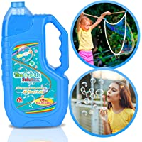 Bloranda Bubble Solution Refill (Up to 3 Gallon) Concentrated Giant Bubble Liquid 40 Ounce with Easy Pour Funnel, Suitable for Bubble Machine, Bubble Gun, Giant Bubble Wand.