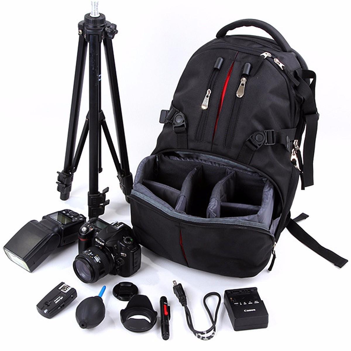 ナイロン防水耐衝撃カメララップトップバッグレンズケースバックパックfor Canon Nikon B07FVXW737