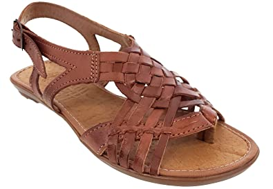 352cb4b7f9d Cowboy Professional Women s Huaraches Mexican Strappy Ankle Chedron Leather  Sandals Hand Woven 5