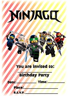 Birthday Party Invitations Lego Ninjagolego ninjago party invites
