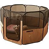 ペットフェンス 24枚セット透明パネル 自由 組み立て 簡単 犬 猫 ペットサークル カスタマイズ 軽量 持ち運び便利 (24)
