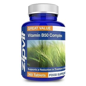 Complejo de Vitaminas B50 | 360 comprimidos | Para el pelo, la piel, las