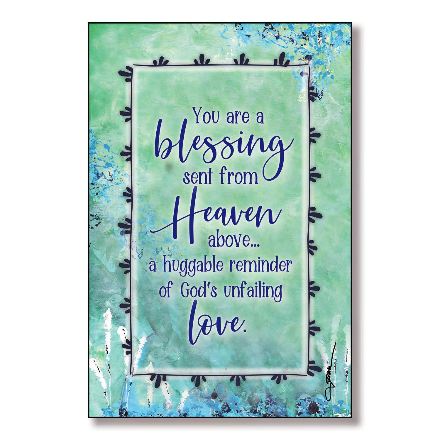 Easel /& Hanging Hook Classic Vertical Frame Wall /& Tabletop Decoration Sent from Heaven Above/…a Reminder of Gods unfailing Love Blessing from Heaven Wood Plaque with Inspiring Quotes 6x9