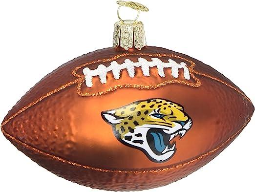 Old World Christmas Jacksonville Jaguars Glass Blown Ornaments for Christmas Tree Football