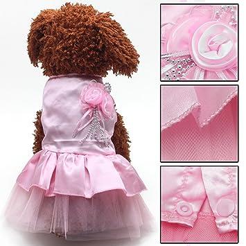 BURFLY - Vestido de boda para perros pequeños, de encaje, para gato, de