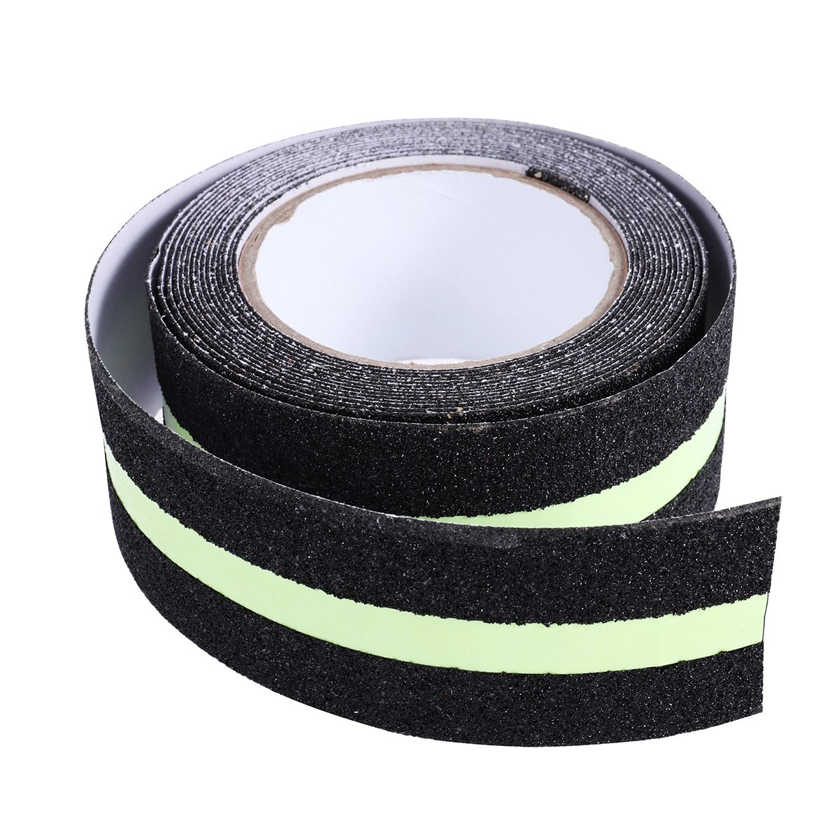 ueetek Non Slip Safety Tape Fluorescent Green with Reflective Strips for Indoor and Outdoor Use, 5 cm x 5 m 5cm x 5m