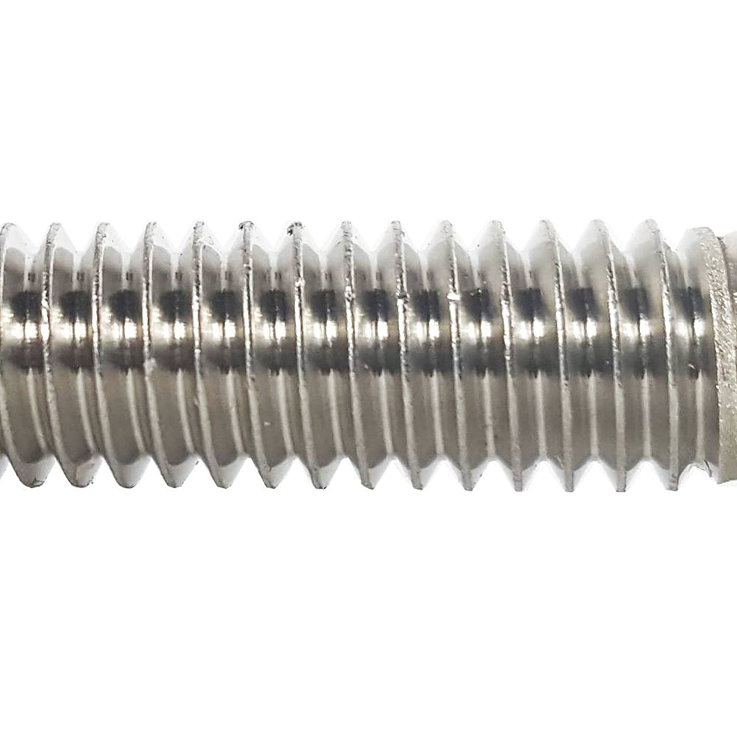 Full Thread Bright Finish Flat Point 5//16-18 x 2-1//2 Hex Head Cap Screw Bolts Stainless Steel 18-8 External Hex Drive Quantity 10 By Fastenere