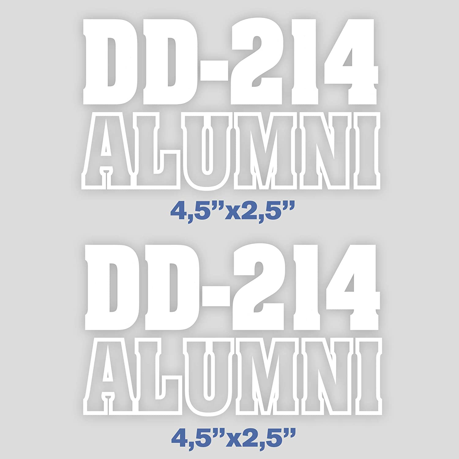 Set of 2 Decal DD-214 Alumni Sticker Release or Discharge U.S. Army Veteran for Car Bumper Laptop Vinyl Truck Military USA 4.5 in