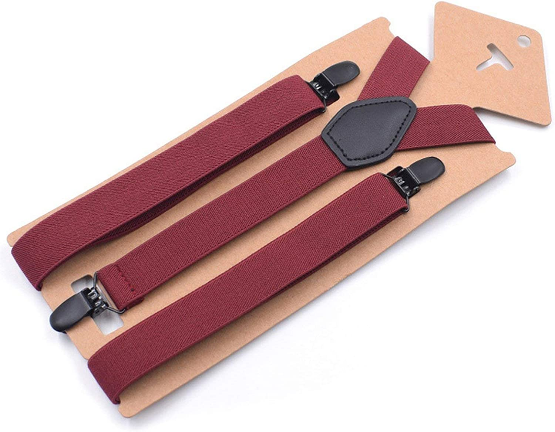 MenS Suspenders GirlS Braces Set Black Leather Male Vintage Casual Trousers Strap