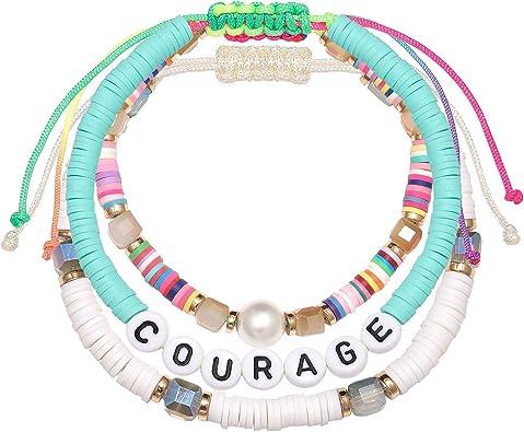 rainbow disc bead anklet