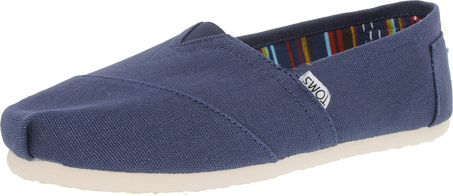 TOMS Women's Classic Canvas Navy Ankle-High Flat Shoe - 8.5M