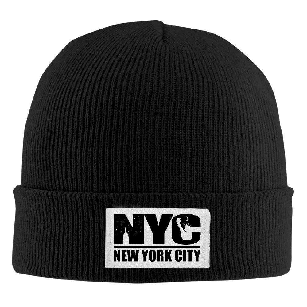 7cbf535172b Amazon.com  New York City Logo Cool Black Flexible Skullies Winter Toboggan  Cap Unisex One Size  Clothing