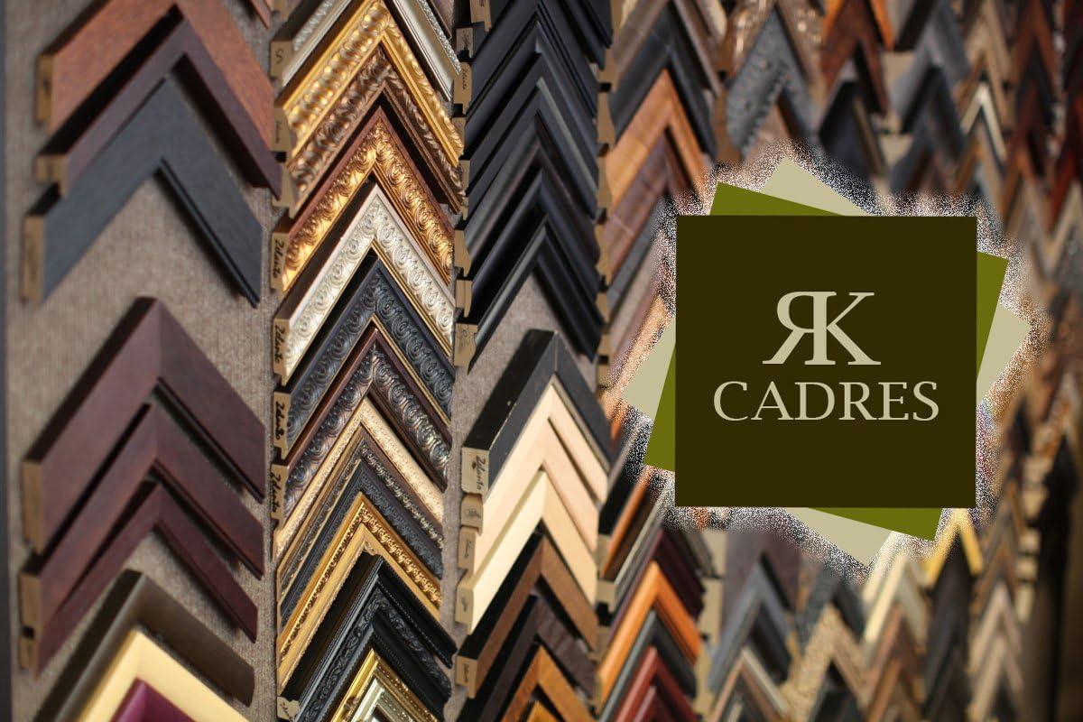 Cadre en bois Cadre photo mural 25x25 25 x 25 cm cadre Blanc Cass/é 2 cm de largeur