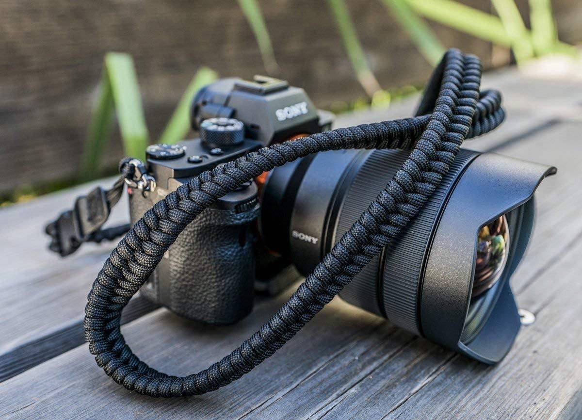 Desert Camo Paracord Camera Strap Canon Nikon Sony