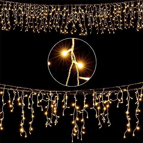 100 Eisregen Eiszapfen Lichterkette LEDs für Weihnachten Kaltweiß **Top Preis**