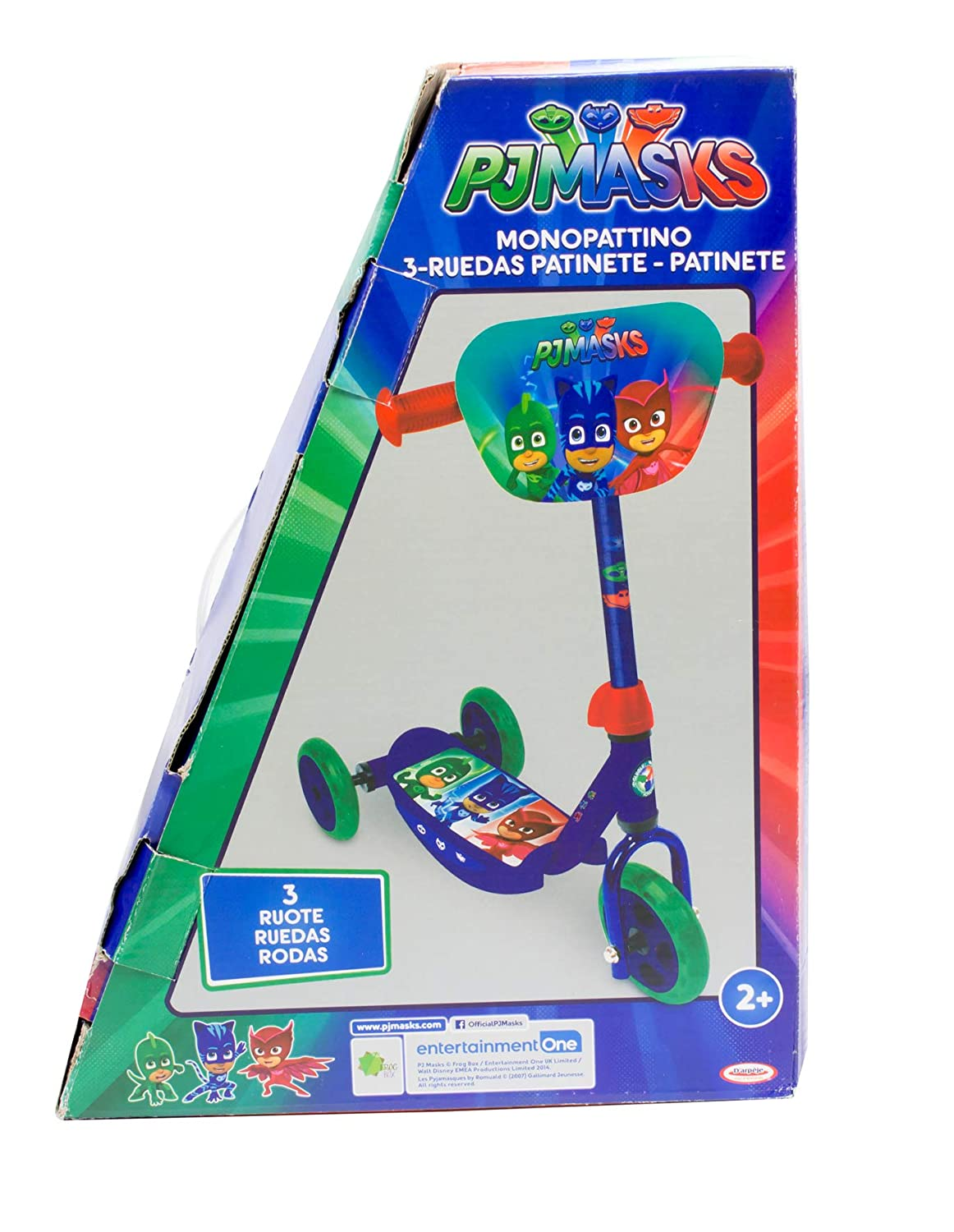 Amazon.com: PJ Masks OPJM110 Kids Three Wheel Tri Scooter ...