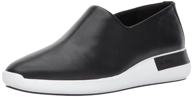 Via Spiga Women's Malena Slip Sneaker B06XHGYRNN 9.5 B(M) US|Black Leather