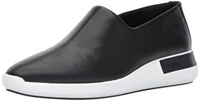 Via Spiga Women's Malena Slip Sneaker, Black Leather, 5 Medium US