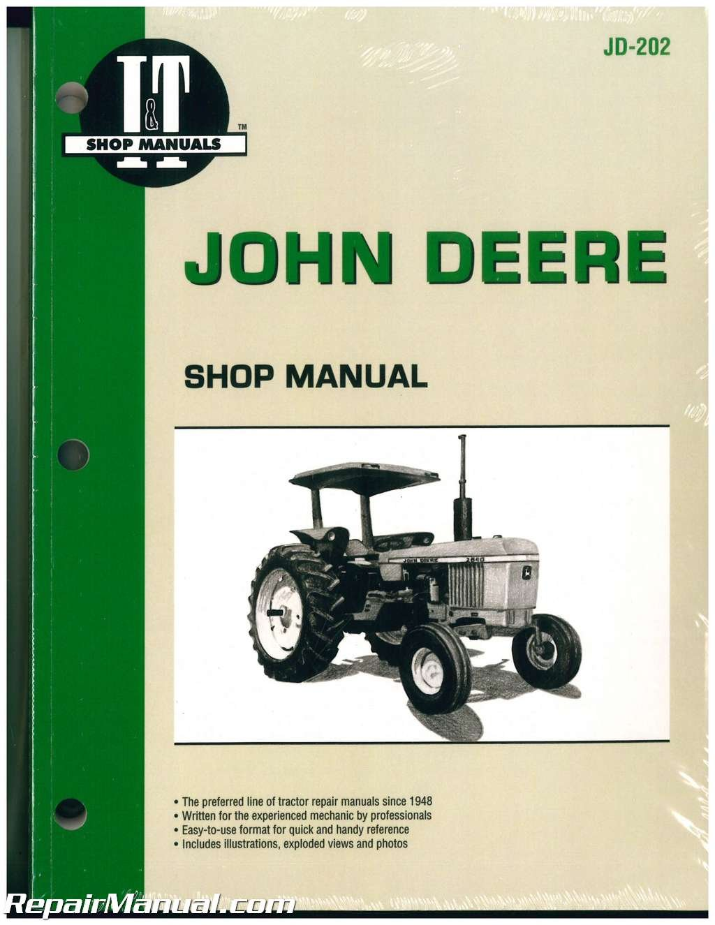 JD-202 John Deere Tractor Manual 2040 2510 2520 2240 2440 2630 2640 4040  4240 4440 4640 4840: Manufacturer: Amazon.com: Books