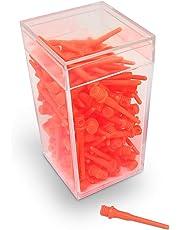 BILLARES Y DARDOS CAMARA Box mit 100 Spitzen Dartspitzen Widerstandsfähige Pfeile für elektronische Dartscheiben, 2ba Gewinde Geeignet für Haushaltspfeile und professionelle Dartpfeil.