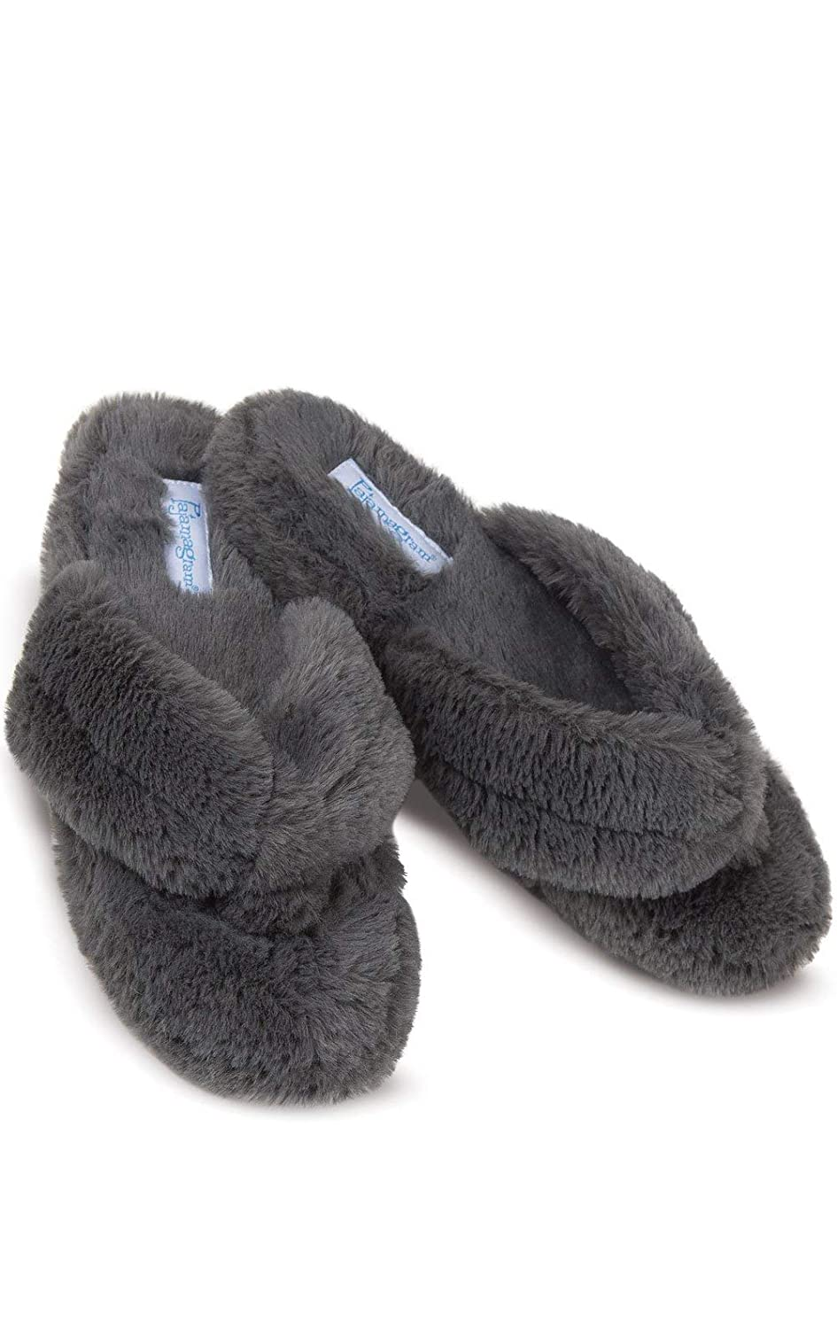 PajamaGram Soft Flip Flop Slippers Fuzzy Womens Slippers Washable