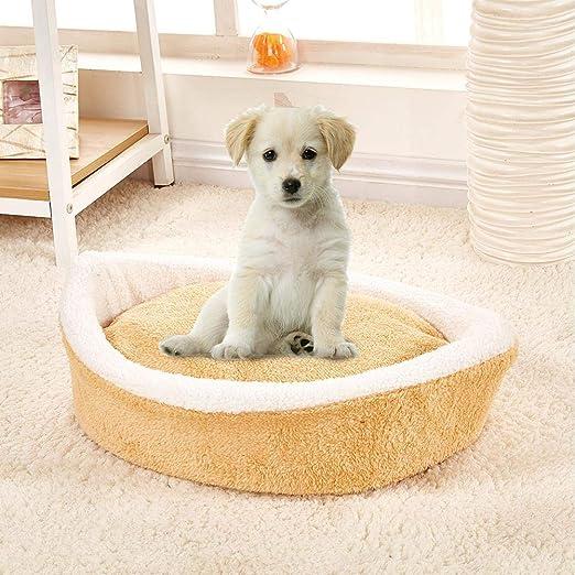 Mascota para Perros Cojín de Cama Elasticidad de la Tela Cómodo Extraíble y Lavable Cálido Antideslizante Pet Nest para Gatos y Cachorros Elasticidad de la ...