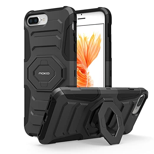 MoKo Case - Shock Absorbing Hard Cover Ultra Protective Heavy Duty Case with Holster Belt Clip