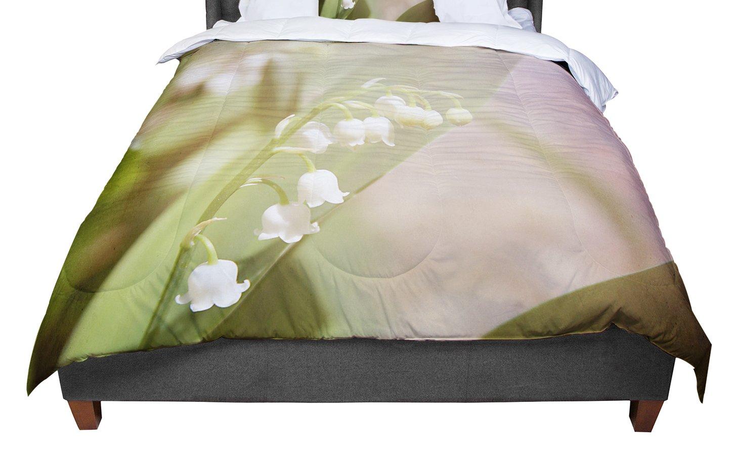 68 X 88 KESS InHouse Iris Lehnhardt Calla Red Flower Twin Comforter