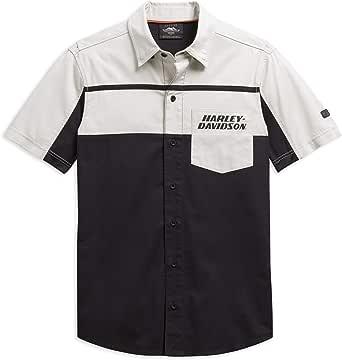 HARLEY-DAVIDSON Camisa Oficial para Hombre Performance Vented Colorblock Small: Amazon.es: Ropa y accesorios