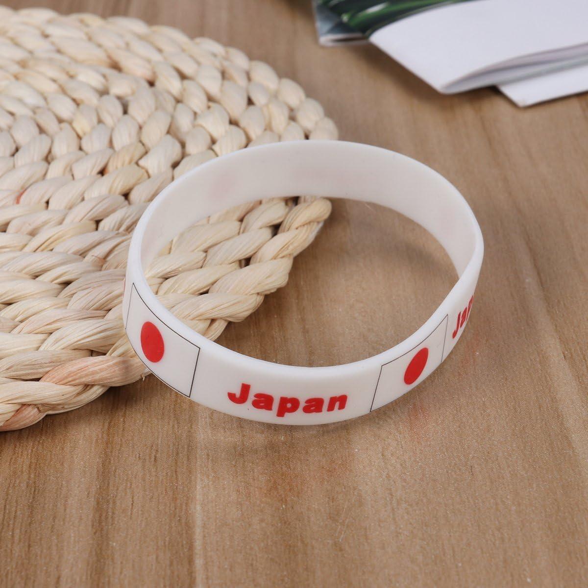 LUOEM 6Pcs Pulseras Bandera Silicona de Nacional Pulseras Bandera Japón 2018 Copa Mundial Futbol FIFA Japan: Amazon.es: Juguetes y juegos