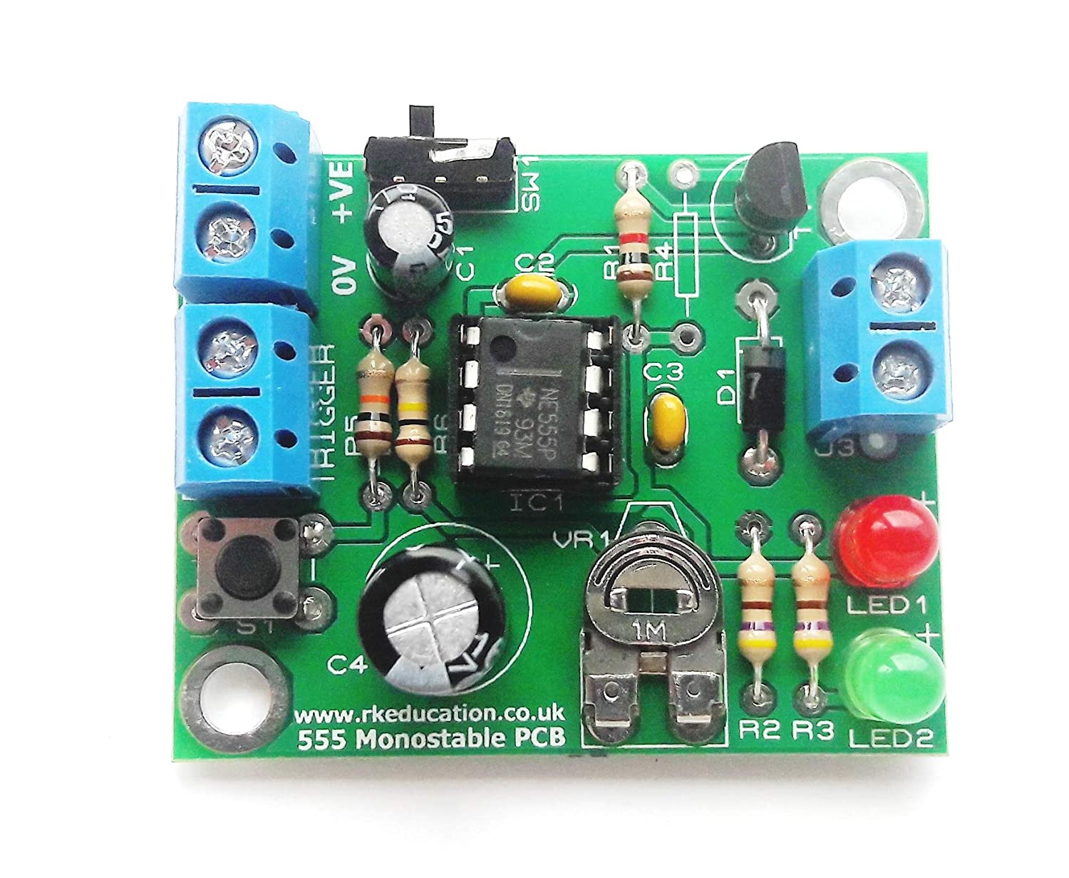How To Build A 555 Timer Monostable Circuit