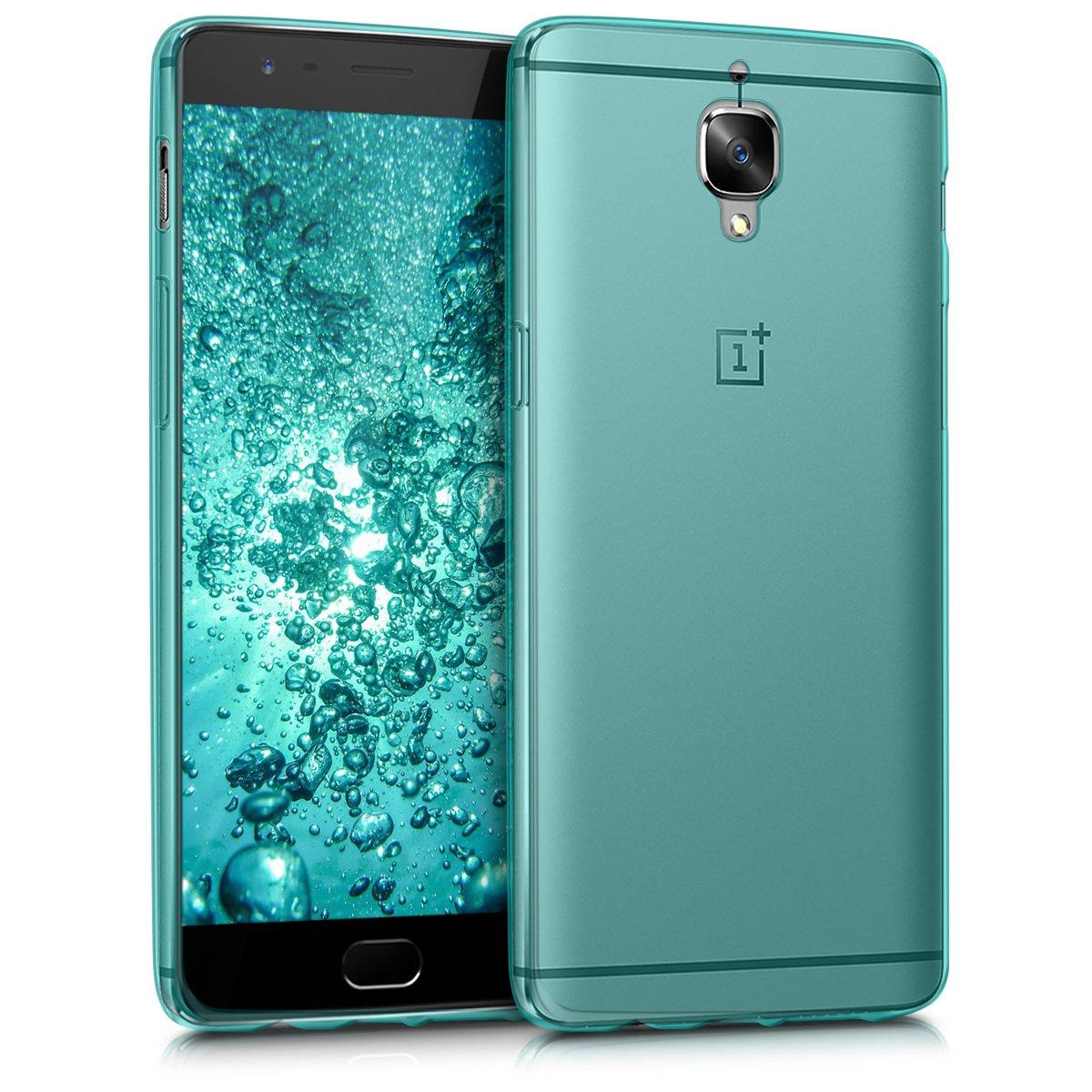 kwmobile Funda para OnePlus 3 / 3T - Carcasa Protectora de [TPU] para móvil - Cover [Trasero] en [Azul]
