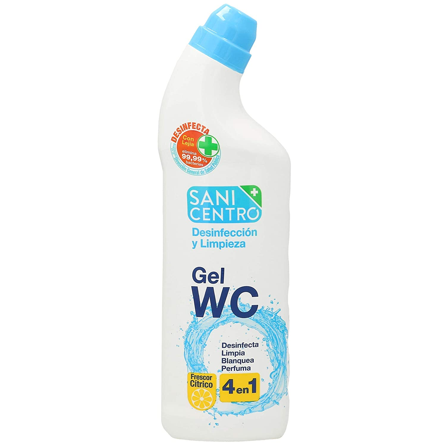 SANICENTRO gel limpiador wc 4 en 1 botella 1 lt: Amazon.es ...