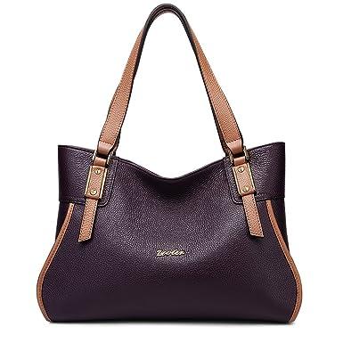 d22cb46b13e5 Amazon.com: ZOOLER GLOBAL Womens Leather Handbags Shoulder Bag Top ...