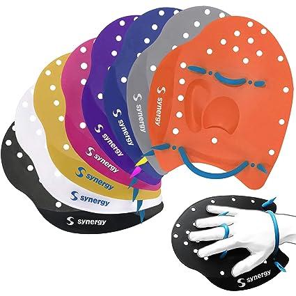 e63ef79f067 Amazon.com   Synergy Hand Paddles for Swim Training   Sports   Outdoors