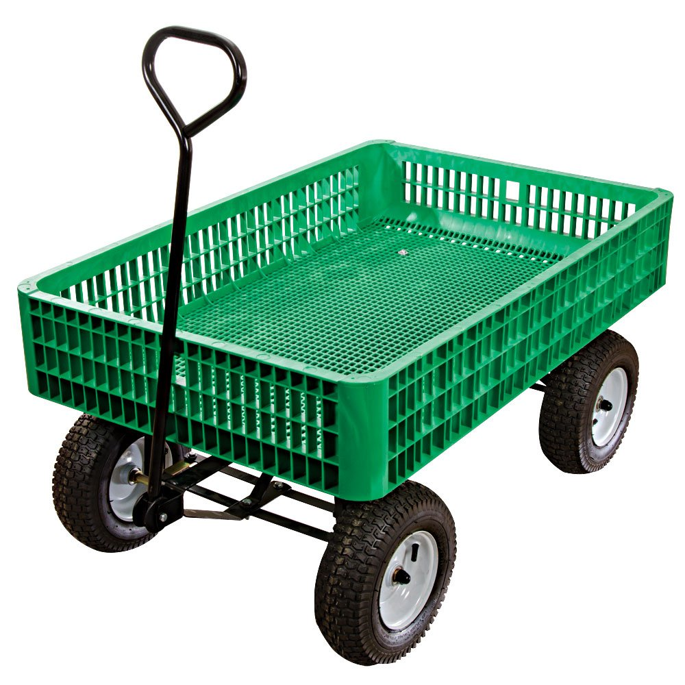 loaded trailer wooden tractor garden diy equipment cart designs yard