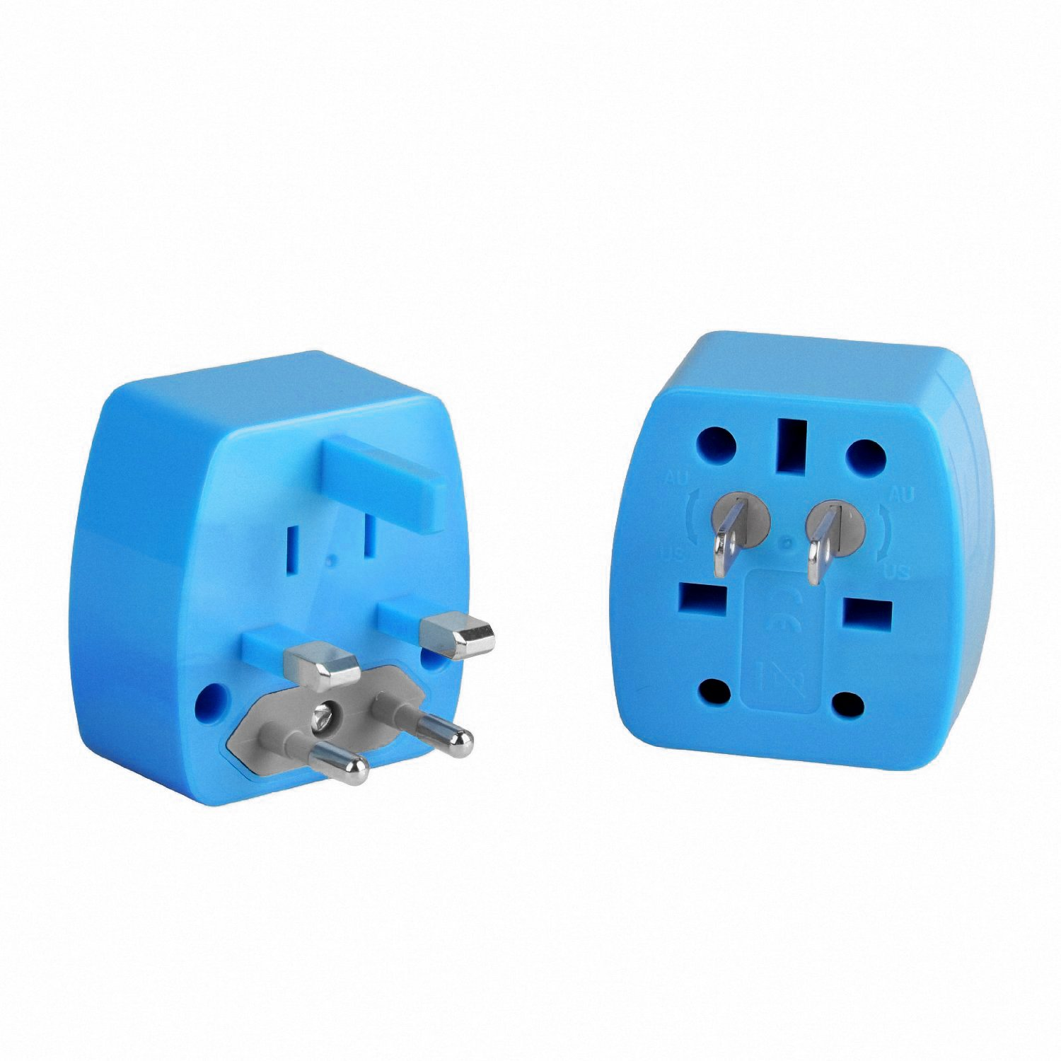 VLG Travel Power International Plug Adapter Universal Worldwide Kit Sturdy Snow White Sleek and Easy-to-use VLG Products Compact