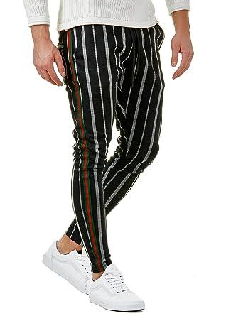 hohe Qualitätsgarantie Sonderangebot amazon EightyFive Herren Stripe Hose Slim Fit Freizeit Sweatpants ...