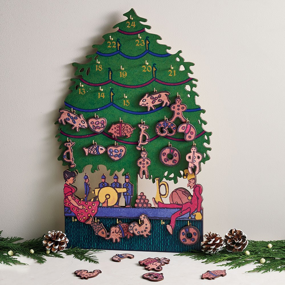 Christmas Advent Calendar Wooden Advent Calendar Museum Creation 18'' x 12''