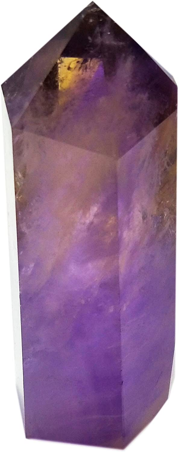 Amethyst Healing Crystal Wand Pointed & Faceted Prism Bar for Reiki Chakra Meditation Therapy Deco, Small gemstomes are Gifts (Colors May Vary Due Natural Properties)