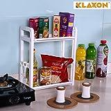 Klaxon 2 Tier Multi Functional Kitchen Rack - White