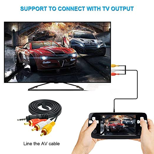 Xinxu game console handheld 43 inch games retro consoles portable xinxu game console handheld 43 inch games retro consoles portable video games player support 600 games amazon toys games fandeluxe Gallery