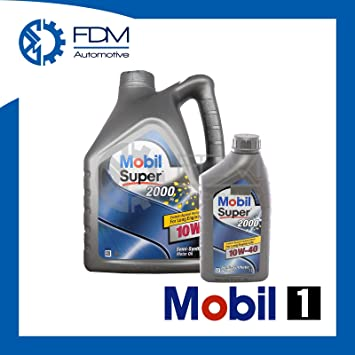 Aceite de Motor Super 2000 Mobil1 10-40-Semillas Synthetic 10W40 5 Litros